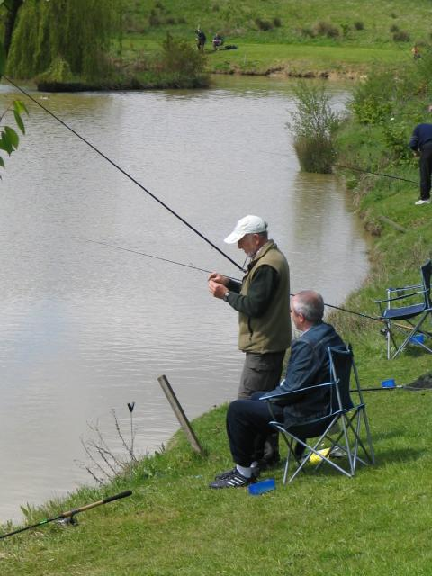 Fishing at a Mind 'Get Active' Event in West Sussex