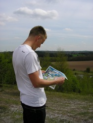 Ash from CAST Project looks over the proposed site development